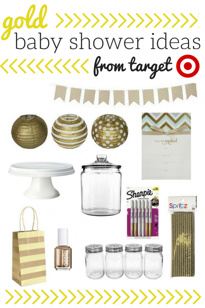 Gold Baby Shower Ideas From Target {Giveaway}   Savvy Sassy Moms