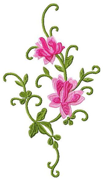 Free Retro Flowers Machine Embroidery Design Broderie Gratuite