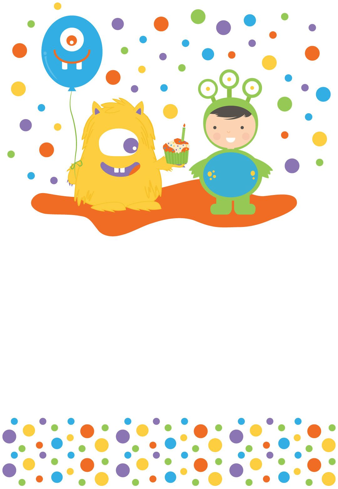 Monster Bash - Free Printable Birthday Invitation Template ...