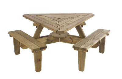 Triangle Picnic Table Picnic Table Modern Round Picnic Table Diy Picnic Table