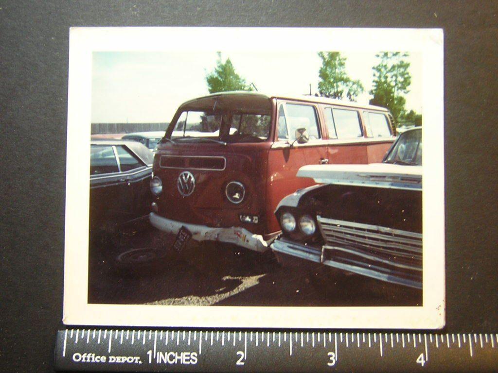Old Style Color Polaroid 1025 beat up Volkswagon van VW hippie in ...