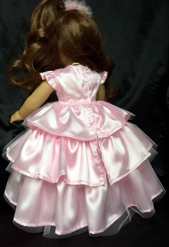"""Doll Clothes 18/"""" Party Bridesmaid Dresses Satin Fits American Girl Handmade NICE"""