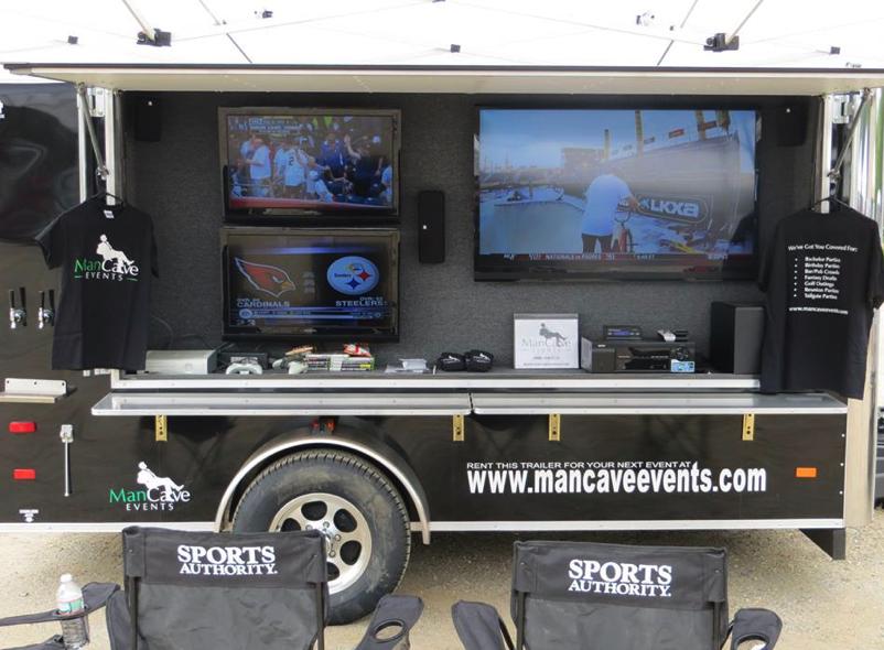 Portable Man Caves For Sale : Mobile man cave tailgating trailer cargo camper pinterest