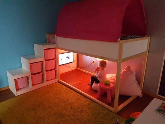 Best This But Add A Slide For The Home Ikea Kura Bed Boy 400 x 300