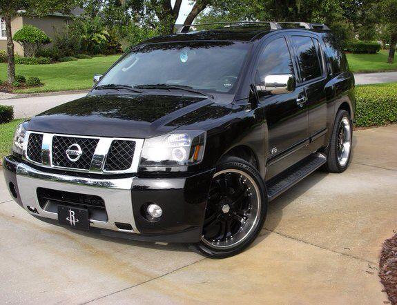Black On Chrome Nissan Armada Mobil Kereta