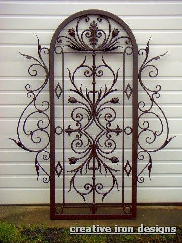 wrought iron outdoor trellis for jasmine Mathis Scroll Iron