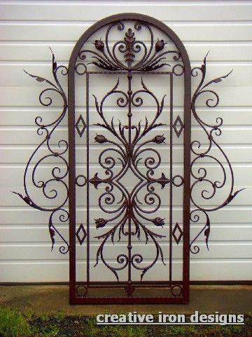 Creative Iron Designs Iron Trellis Wrought Iron Wall Art Metal