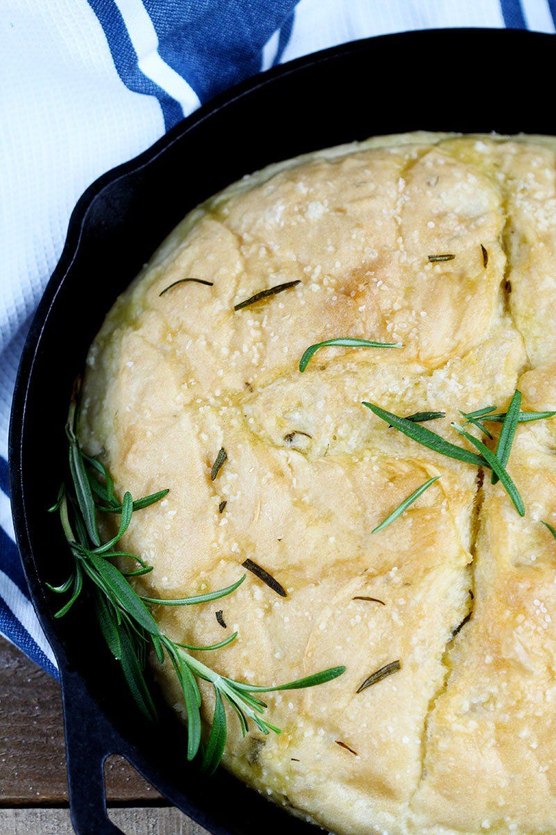 Rosemary No Knead Skillet Bread - Delicious and easy, this ...
