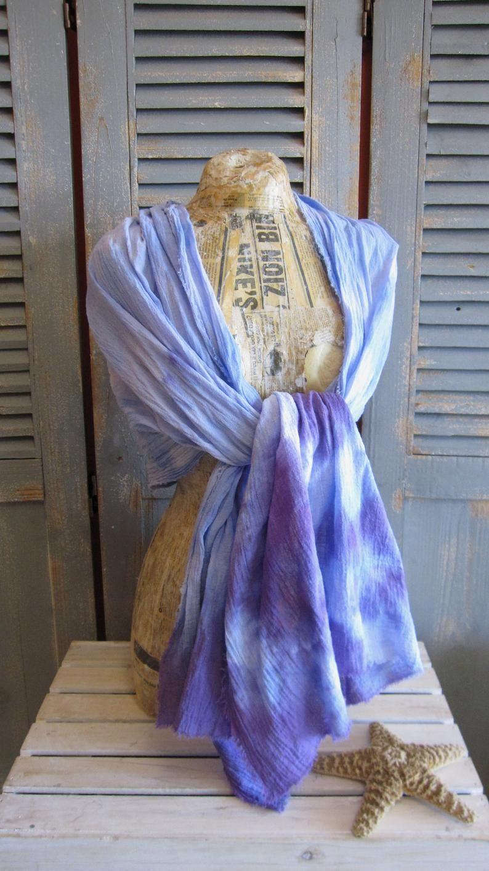 Purple Tie Dye Scarf Cotton Shawl Etsy In 2020 Tie Dye Scarves Purple Tie Dye How To Dye Fabric