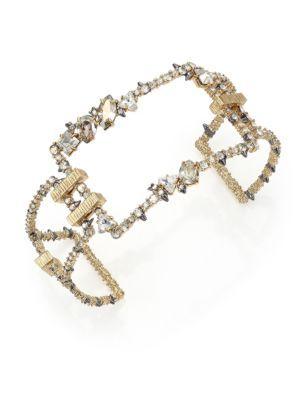 Alexis Bittar Crystal Encrusted Oversize Link Cuff Bracelet 8ycBGF
