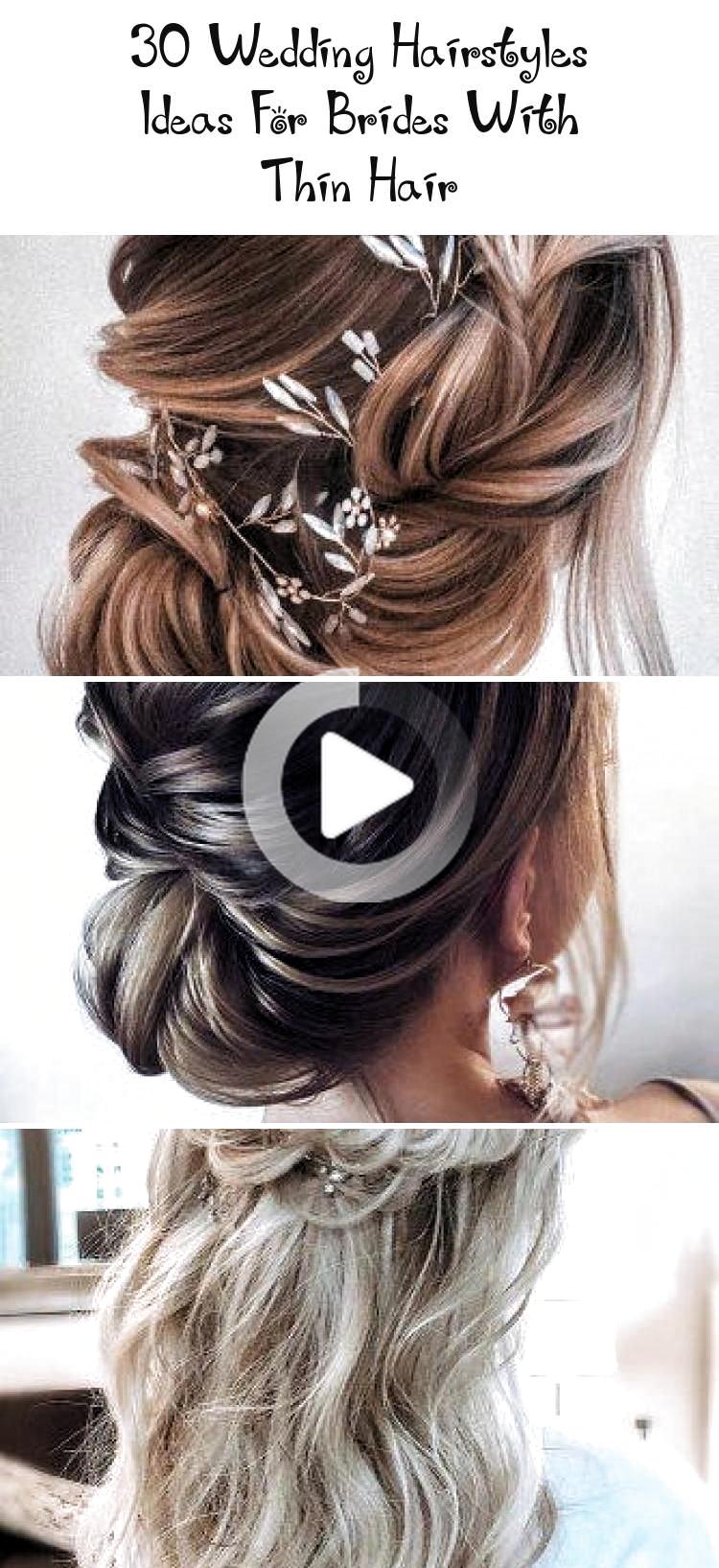 10 Ideen Frisuren für Bräute mit dünnen Haaren Hochzeit Frisuren