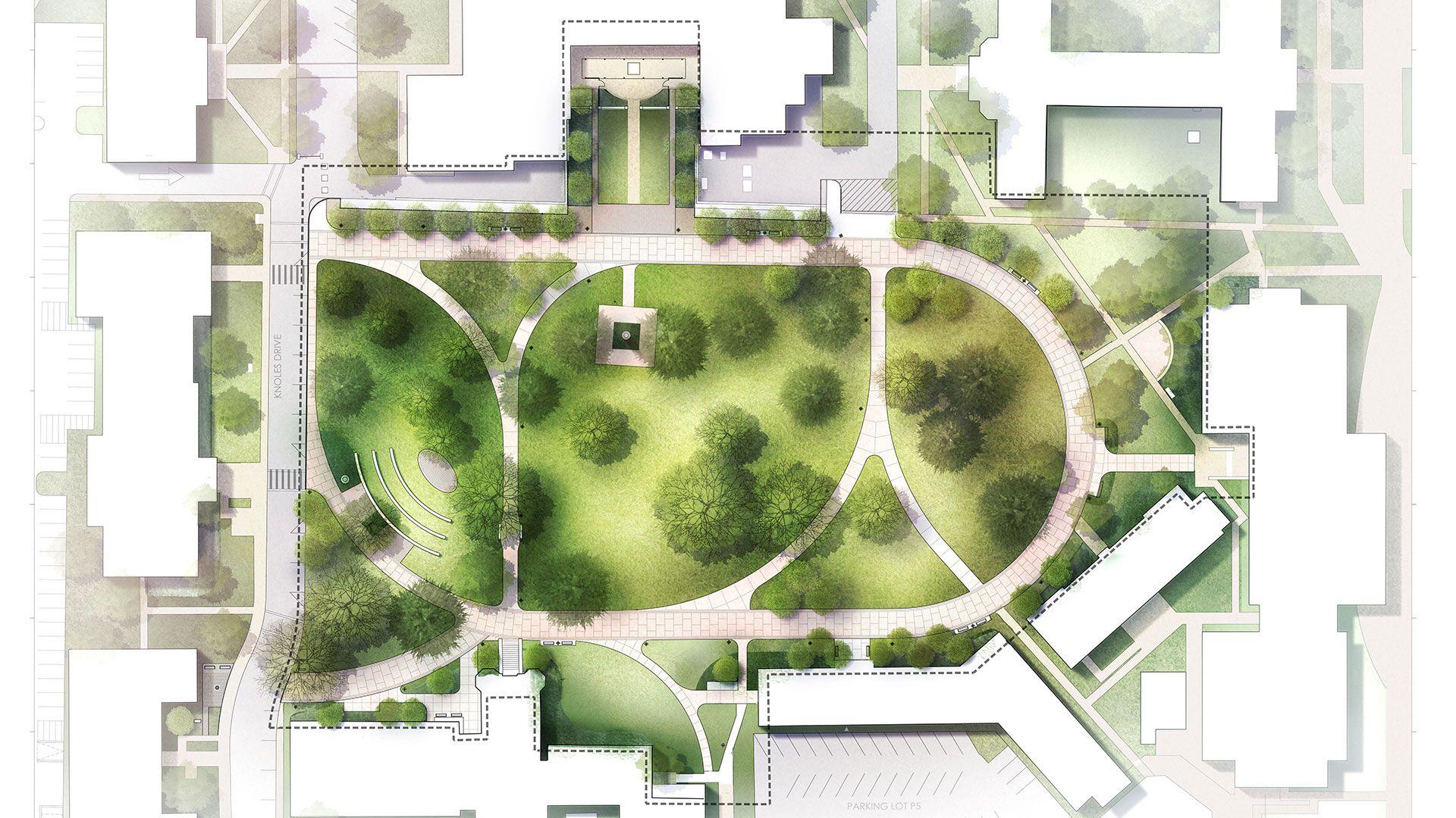 landscape architecture plan rendering