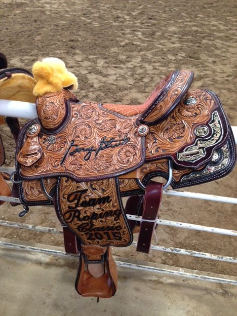 2015 George Strait Team Roping Champion Saddle Rodeo