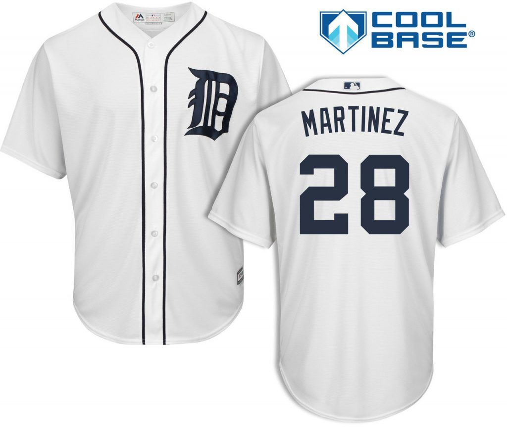 more photos e615f f7cda J.D. Martinez Detroit Tigers Cool Base Replica Home Jersey ...