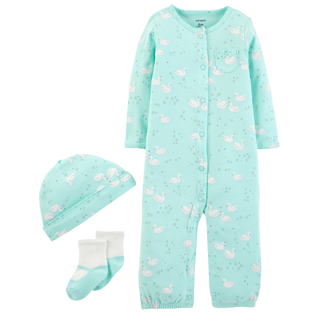 The Childrens Place Baby 3 Pack Novelty Printed Layette Set