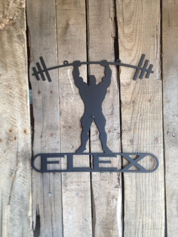 Weight Lifter Custom Text Sign K 14 by RustyRoosterMetal on