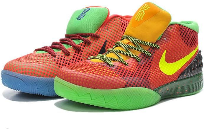 082ec59f2d5a Nike Kyrie 1 Orange Green Purple Yellow0