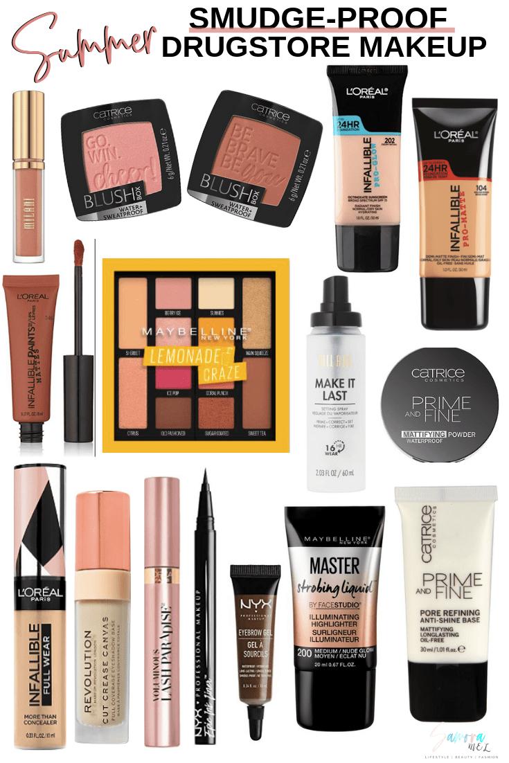 Sweatproof Drugstore Makeup SamoraMel Drugstore makeup