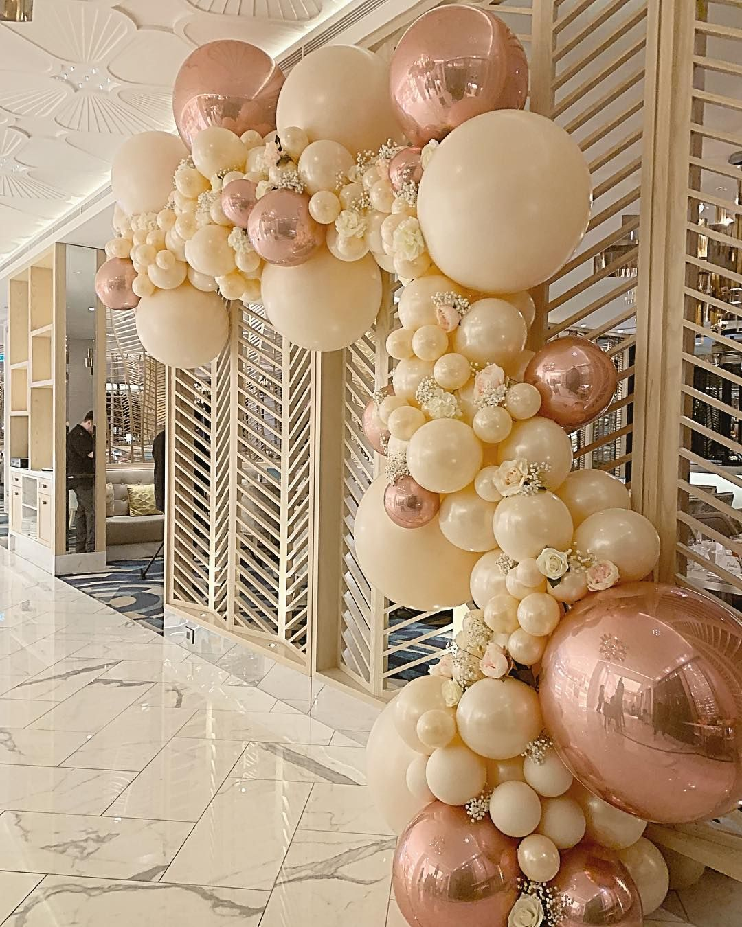 Perth Balloon Garlands On Instagram Wedding Entrance At The Epicurean Crownperth Perthballoons Perthweddin Balloon Garland Wedding Balloons Balloons