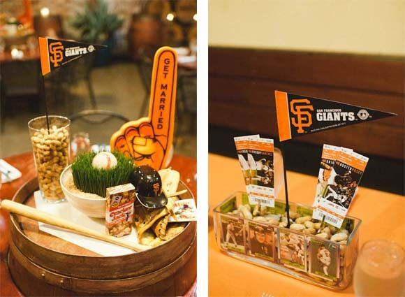 Caribbean Rehearsal Dinner Theme: Baseball Themed Dinner Centerpieces
