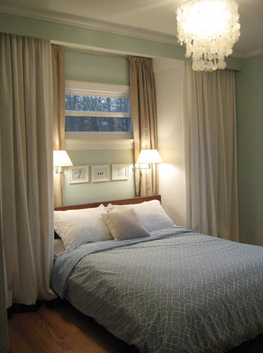 Capiz Chandelier Bed Lights Blue And Neutral Curtain Wall