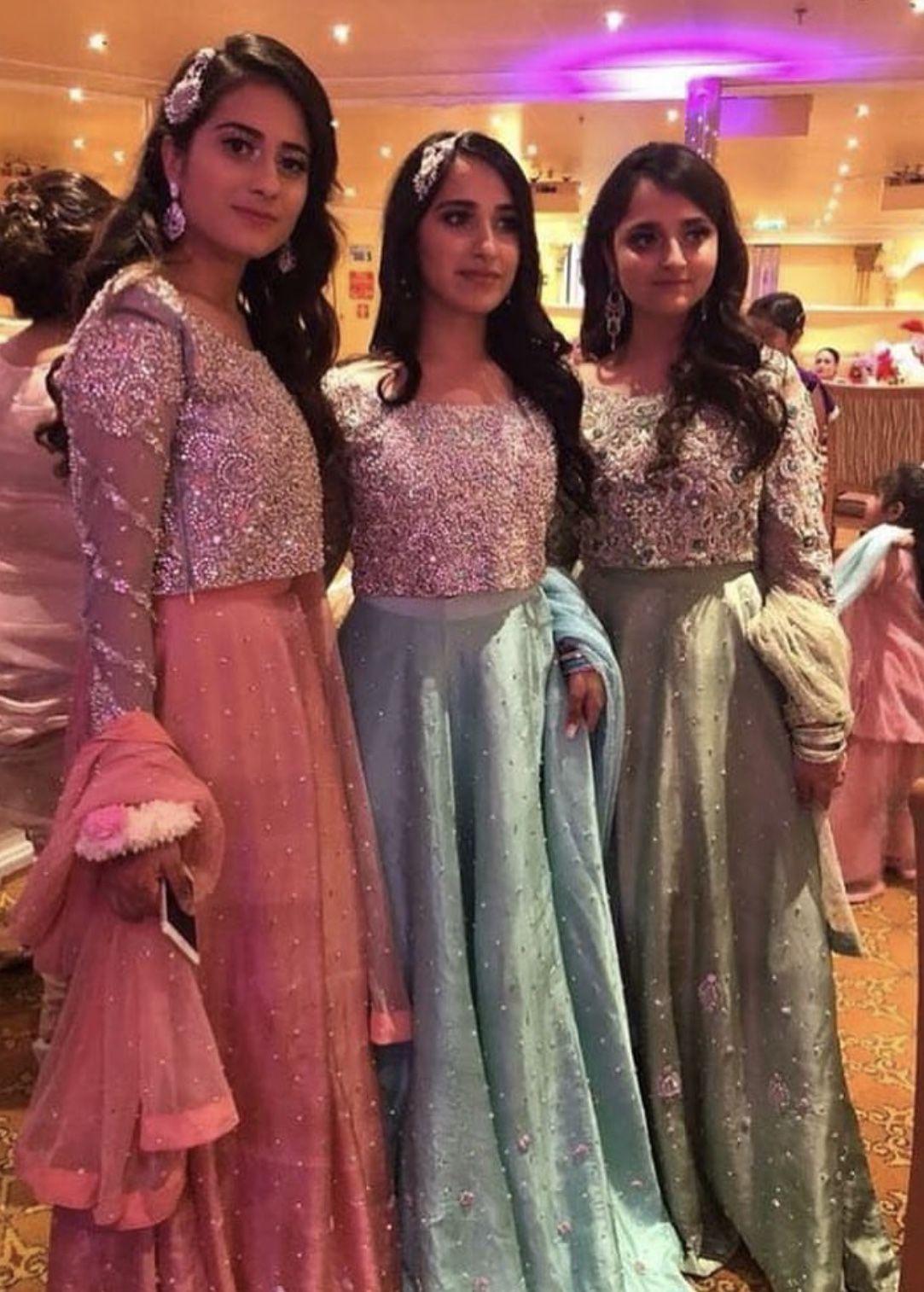 brides sisters  fancy dresses heavy dresses