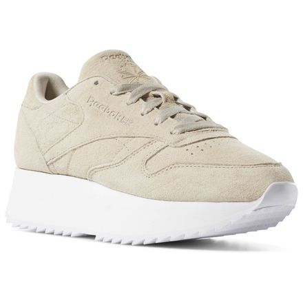 bd0a776eb8 Reebok Shoes Women's Classic Leather Double in Light Sand/White Size ...