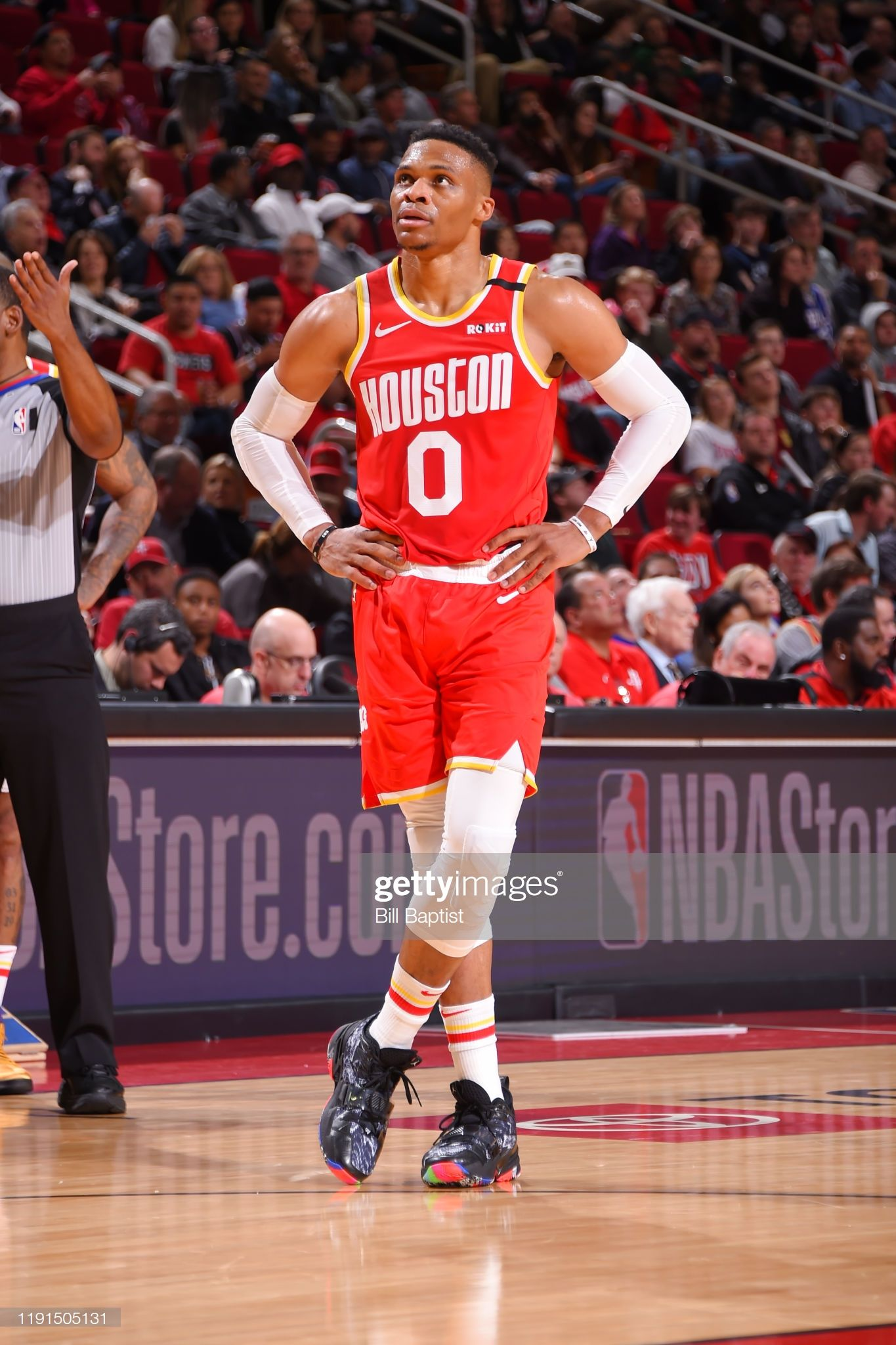 Russell Westbrook Of The Houston Rockets Looks On During The Game In 2020 Houston Rockets Westbrook Houston Rockets Basketball