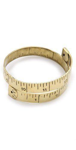 Cool measuring tape bracelet!