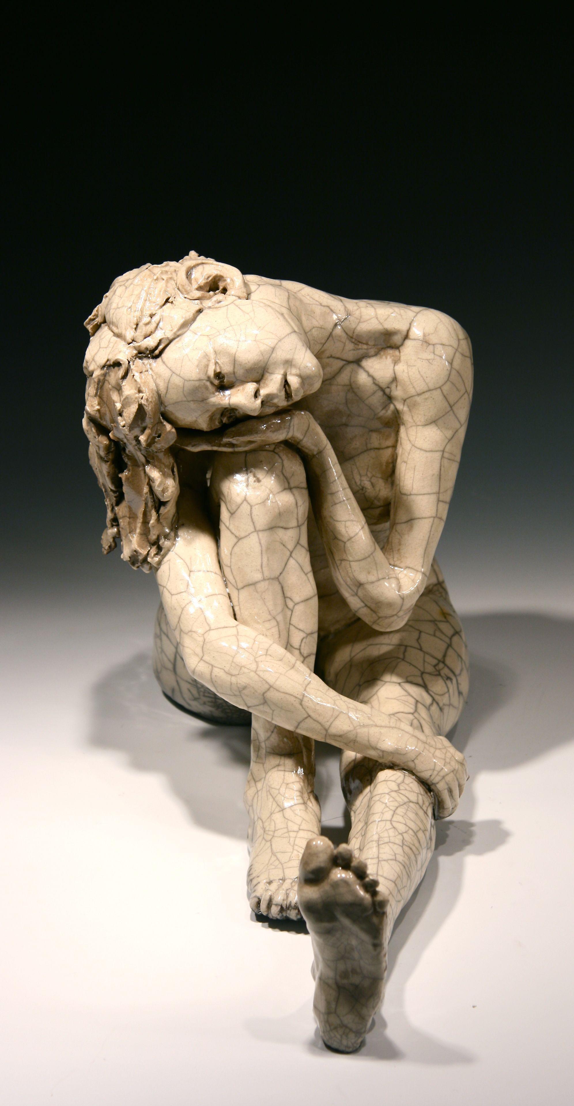 Bob Clyatt  -  ceramic-figurative-sculpture raku-sculpture  wood-fired-sculpture