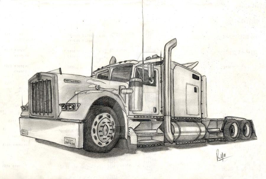 kenworth w900 b aerodyne by panthymaeus on deviantart trucks pinterest cars toons cars. Black Bedroom Furniture Sets. Home Design Ideas