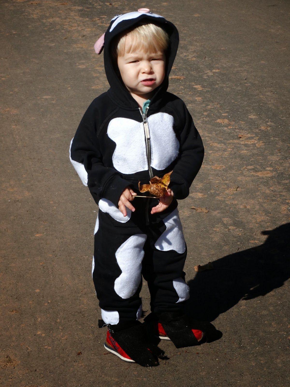 Easy Holstein Costume. Toddler Boy. Warm Costume