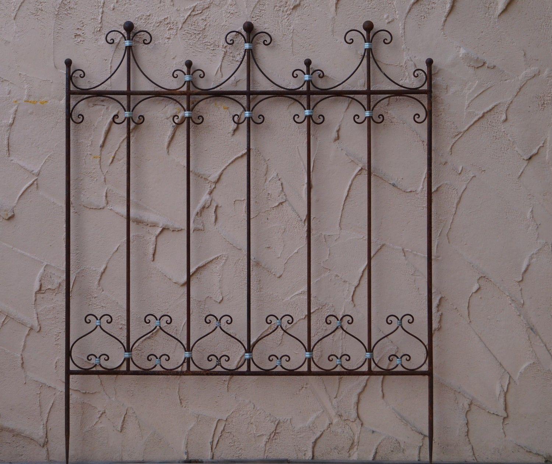 eisen metall stahl rankgitter spalier rankzaun zaun roh rost elaria antik ebay z une zaun. Black Bedroom Furniture Sets. Home Design Ideas