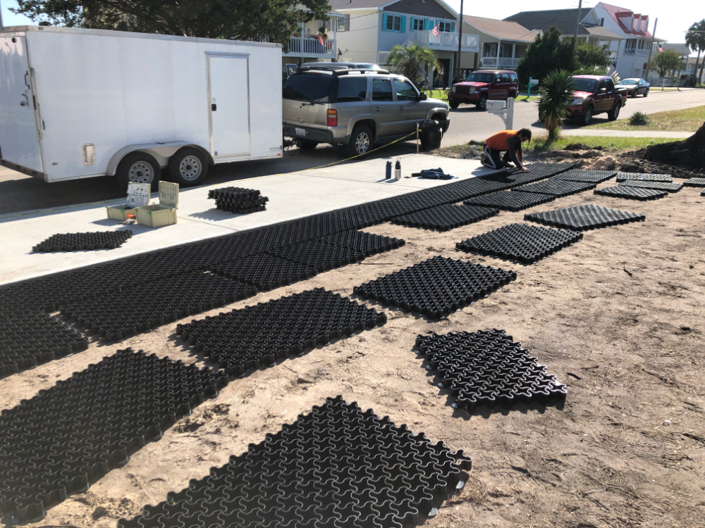 Easypave Grid Grass Gravel Paving System Dog Yard