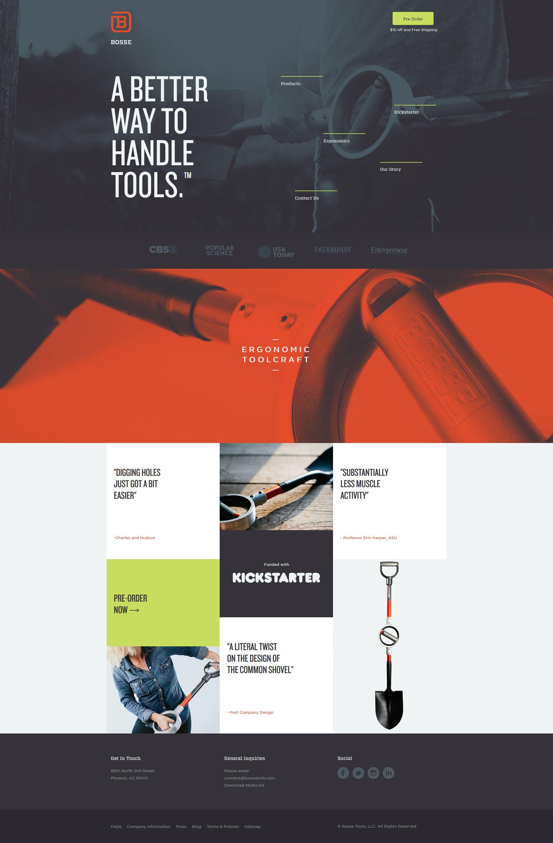 Bosse Tools Flat Inspire Web Development Design Web Design Flat Web Design