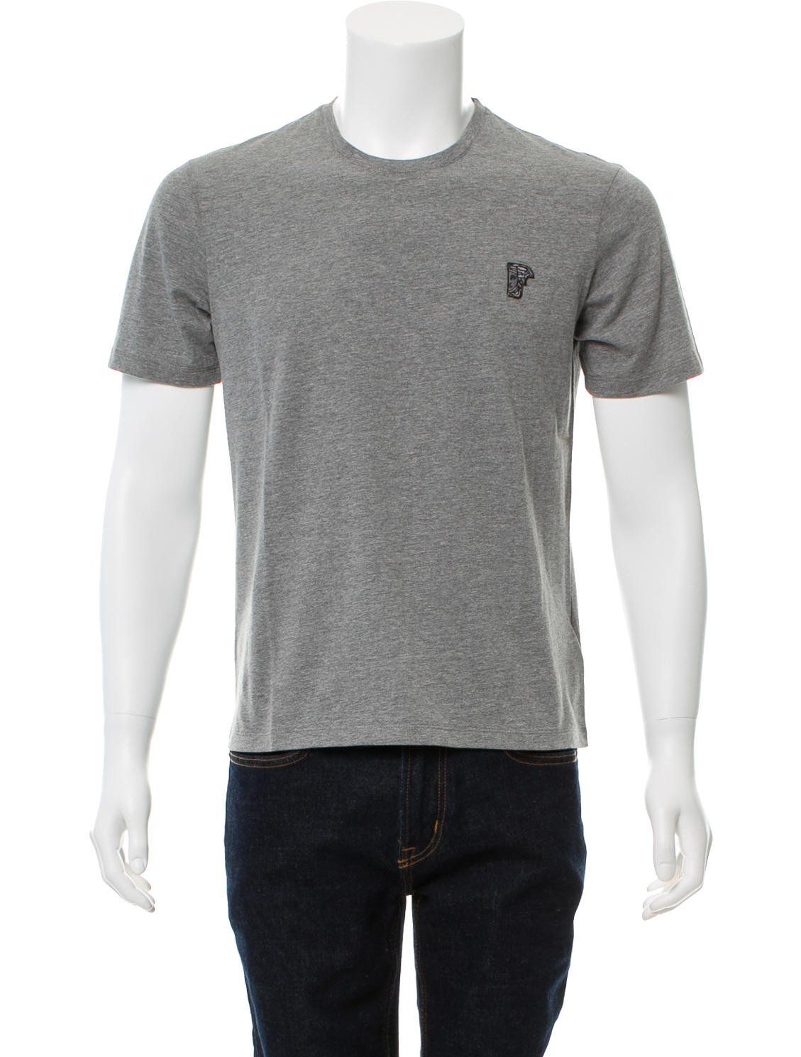 a55db064f68 Men s grey Versace Collection embroidered Medusa T-shirt with scoop neck  and short sleeves. Includes tags.versace-collection Collection embroidered  Medusa