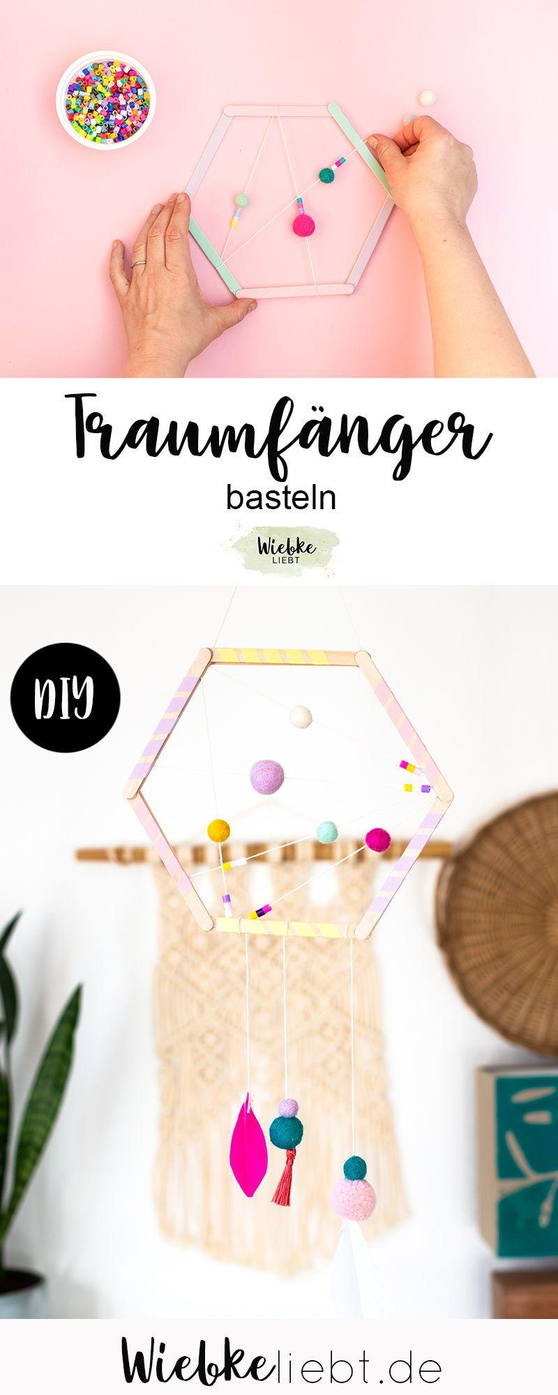 Traumfänger basteln - DIY Deko für das Kinderzimmer [Werbung] | DIY Blog | Do-it-yourself Anleitunge
