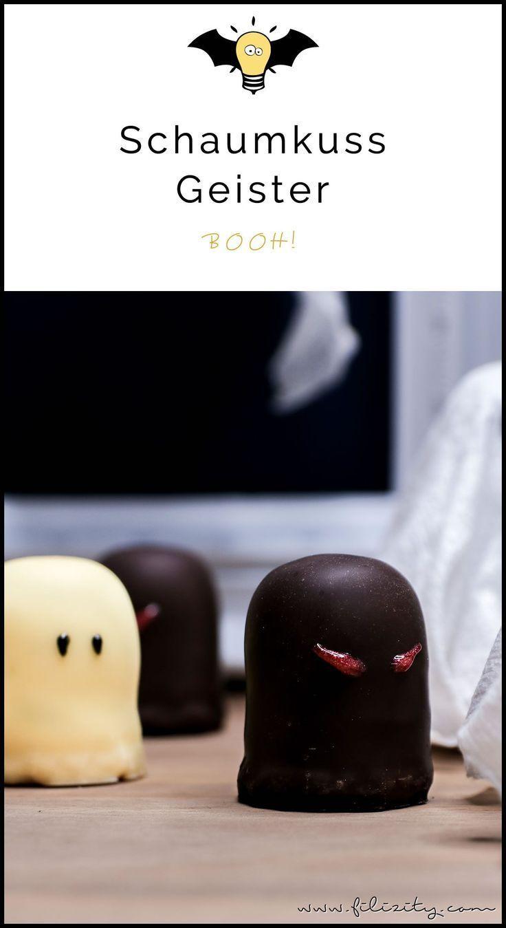 Schnelles & einfaches Halloween-Rezept: Geister-Lollies und Schattenmonster aus ...
