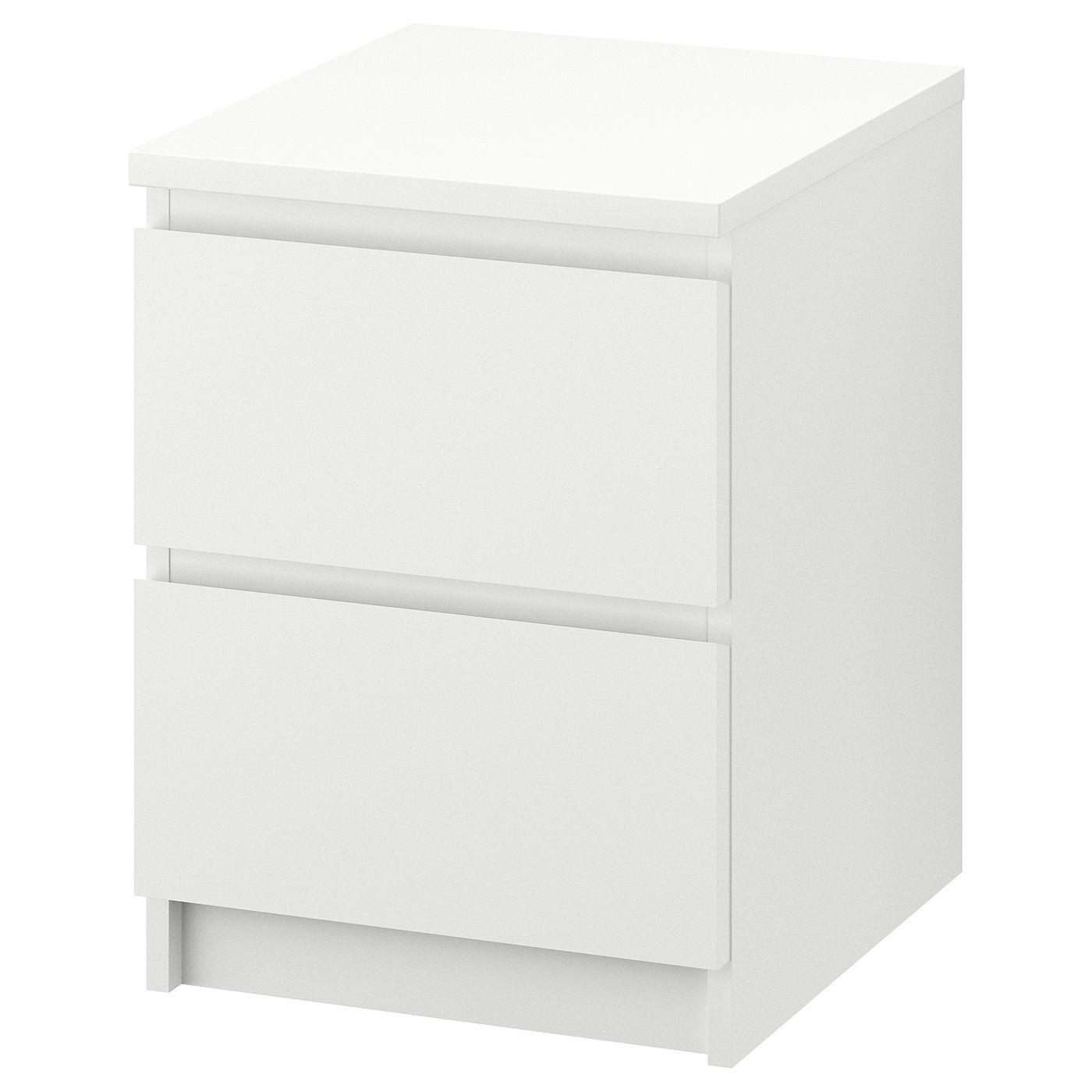 Malm 2 Drawer Chest White 15 3 4x21 5 8 In 2020 Ikea Malm