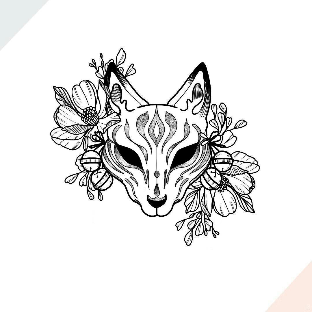 Pin by Sheg on Tattoo Kitsune mask, Drawings, Art