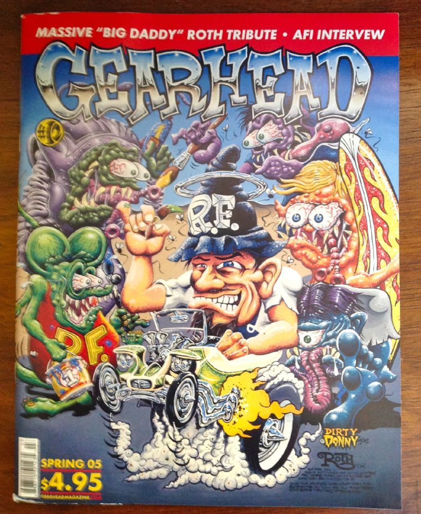 Gearhead Magazine #12 Ed Big Daddy Roth Tribute Issue Kustom Kulture Automotive