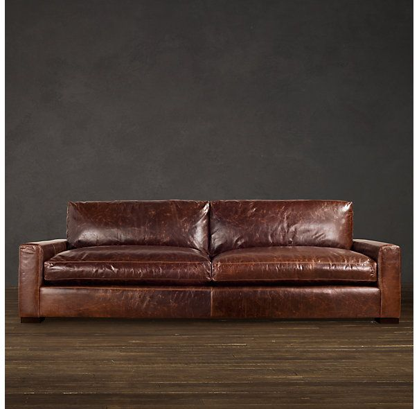 Maxwell Leather Sofas: Compromise B/t What I Want (more Sleek/modern