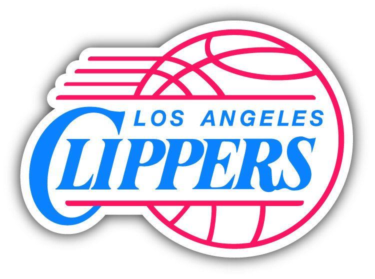 Los angeles clippers nba basketball logo car bumper sticker decal 5