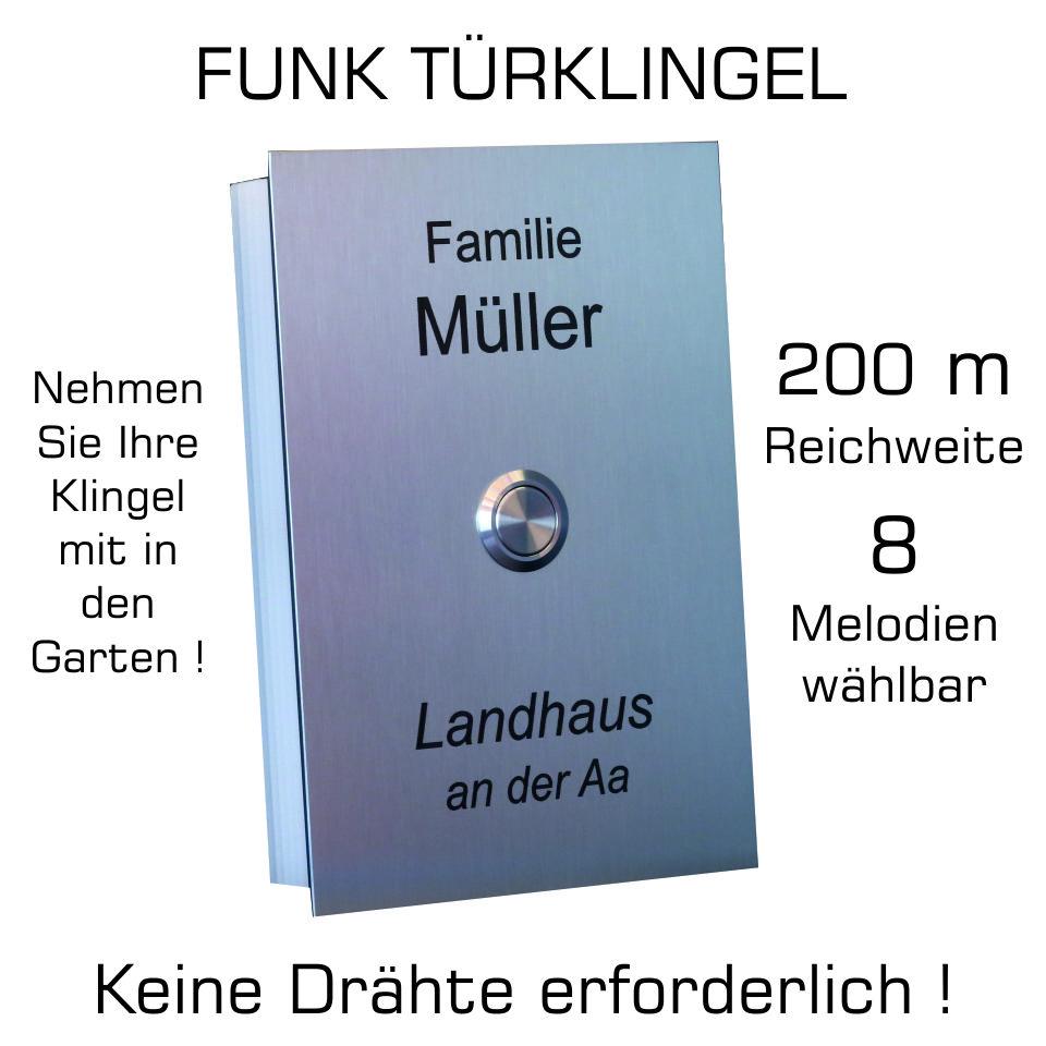 Edelstahl Funk Turklingel Mit Grosser Reichweite 200 M 8 Melo