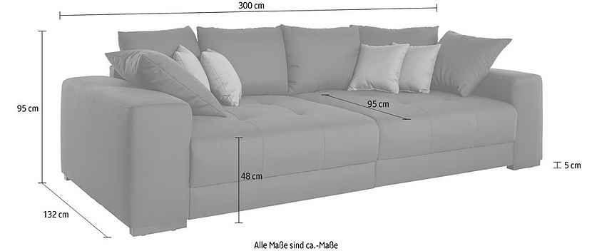 Big-Sofa mit Boxspringunterfederung Pinterest Big sofas and Big - big sofa oder wohnlandschaft