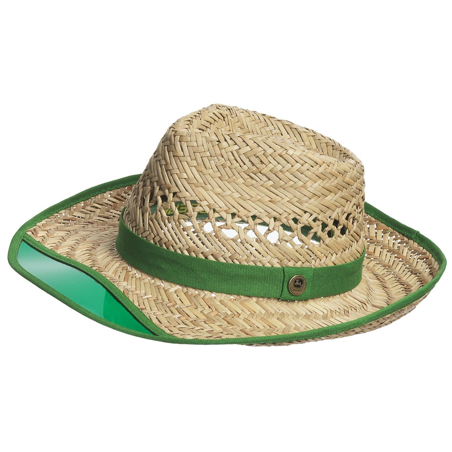 597b3a76cd4 The first time I ve seen a straw hat like this. John Deere Sun Visor Hat - Rush  Straw