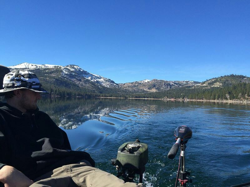 Donner lake fishing. Sucks when wanting fish but the view is amazing.