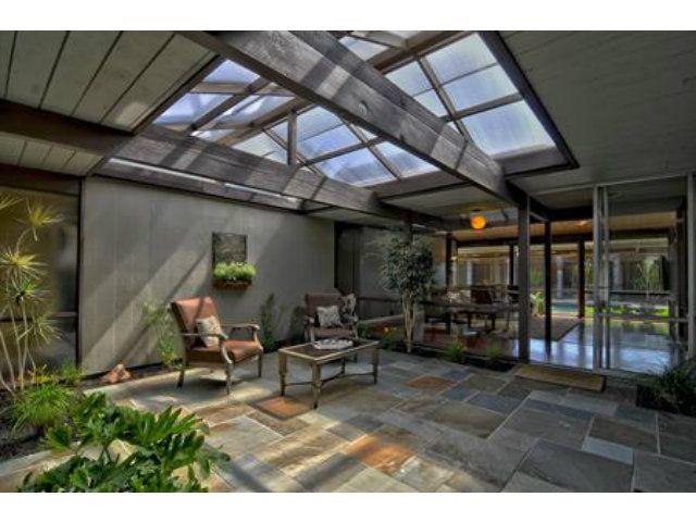Eichler home atrium model design decor inspiration for Joseph eichler houses