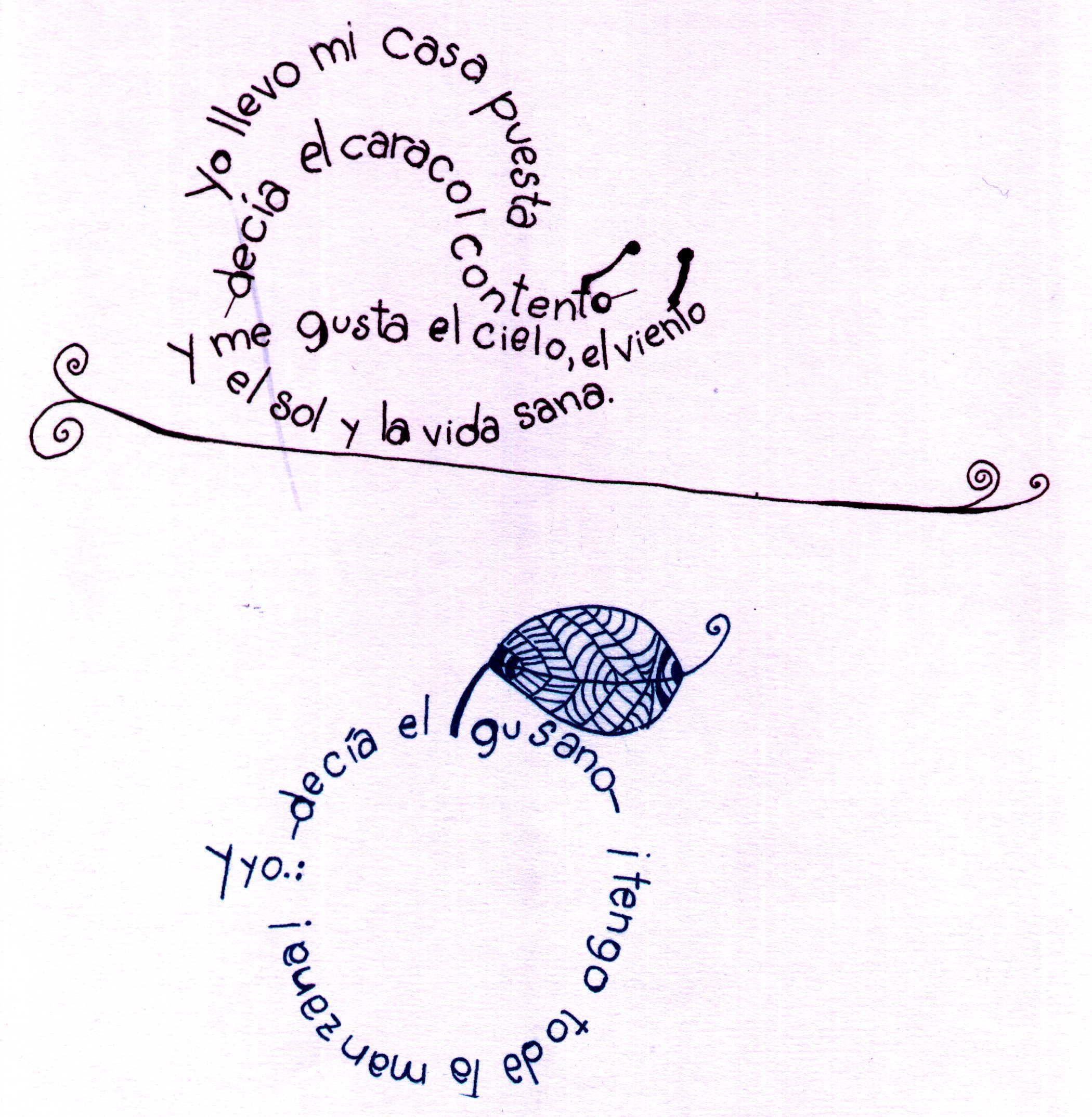Caligramas Poesia E Imagen Caligramas Caligramas Para Ninos Caligramas Faciles