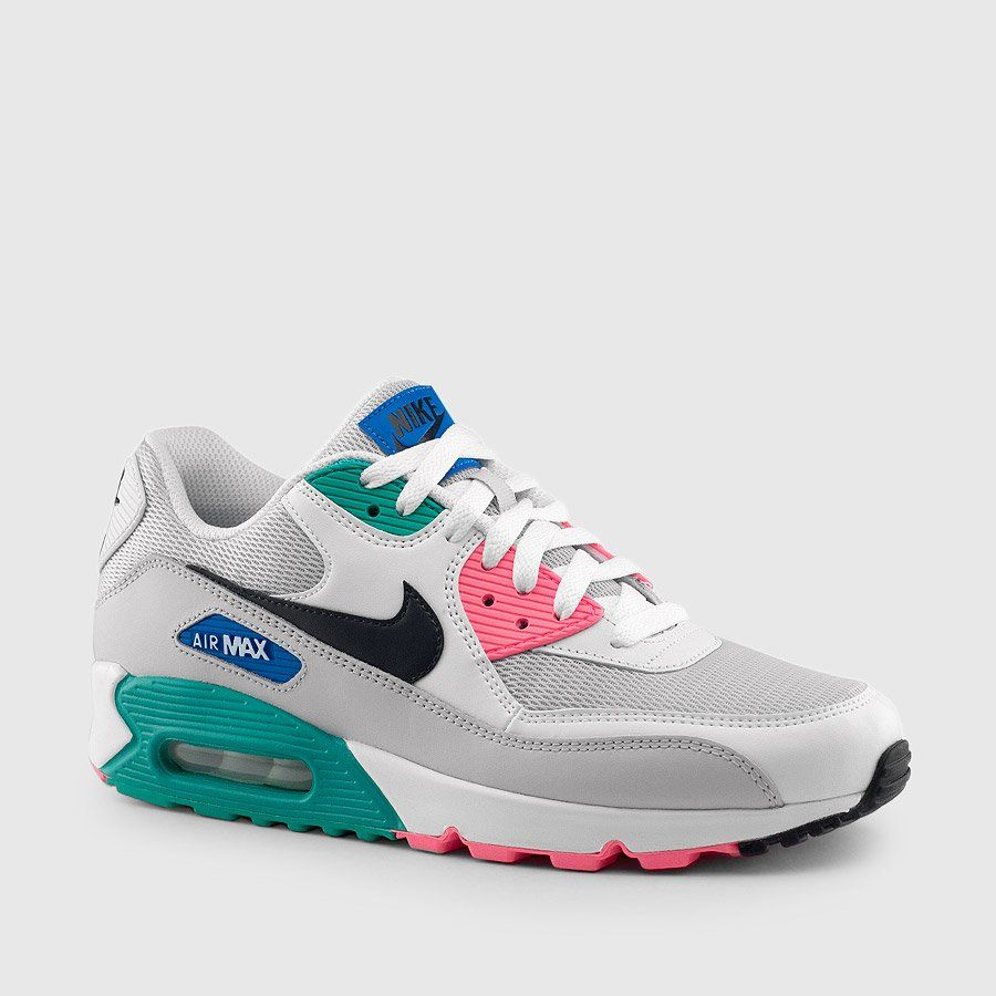 new concept 6578e 19314 Nike Air Max 90 Leather. Donned the  Watermelon  and  South Beach  Air Max,  this colorway sports tonal grey uppers, combined with bright hits of Miami  vibes ...